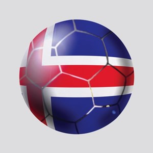 Iceland Soccer Ball Button
