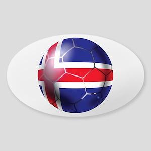 Iceland Soccer Ball Sticker (Oval)