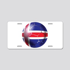Iceland Soccer Ball Aluminum License Plate