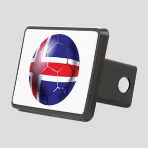 Iceland Soccer Ball Rectangular Hitch Cover