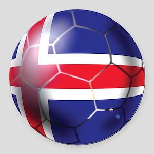 Iceland Soccer Ball Round Car Magnet