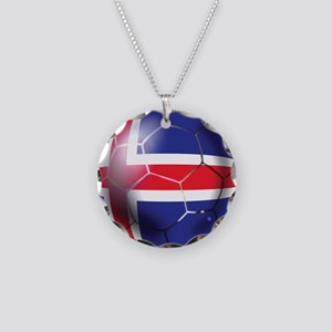 Iceland Soccer Ball Necklace Circle Charm