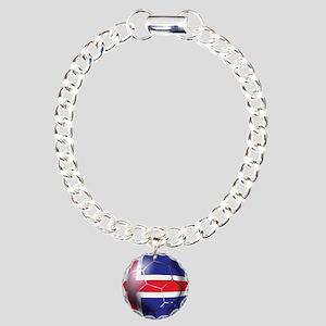 Iceland Soccer Ball Charm Bracelet, One Charm