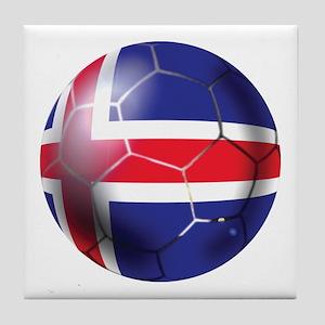 Iceland Soccer Ball Tile Coaster
