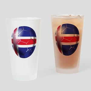 Iceland Soccer Ball Drinking Glass