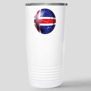Iceland Soccer Ball Stainless Steel Travel Mug