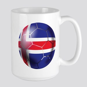 Iceland Soccer Ball Large Mug
