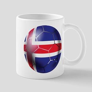 Iceland Soccer Ball Mug