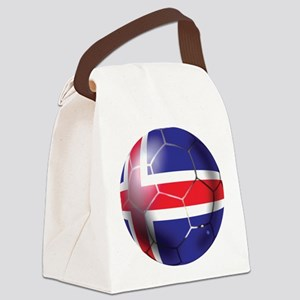 Iceland Soccer Ball Canvas Lunch Bag