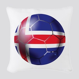 Iceland Soccer Ball Woven Throw Pillow