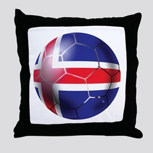 Iceland Soccer Ball Throw Pillow