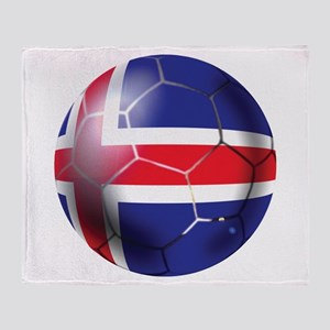 Iceland Soccer Ball Throw Blanket