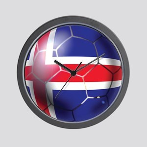 Iceland Soccer Ball Wall Clock