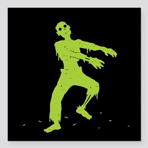 "Zombie Square Car Magnet 3"" x 3"""