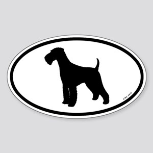 Euro Airedale Terrier Sticker