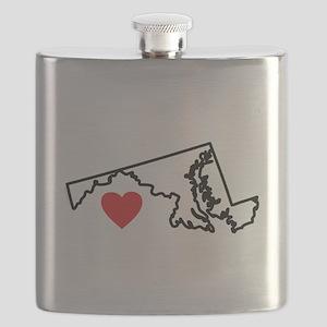 I Love Maryland Flask