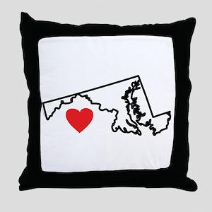 I Love Maryland Throw Pillow