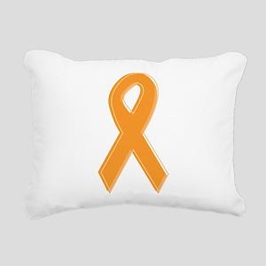 Orange Aware Ribbon Rectangular Canvas Pillow