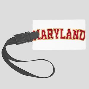 Maryland Jersey Font Large Luggage Tag