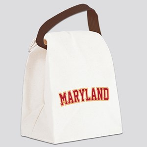 Maryland Jersey Font Canvas Lunch Bag
