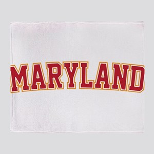 Maryland Jersey Font Throw Blanket