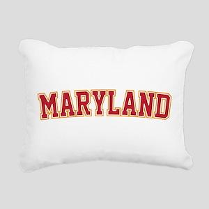 Maryland Jersey Font Rectangular Canvas Pillow
