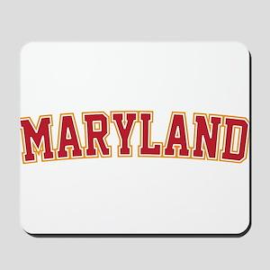 Maryland Jersey Font Mousepad