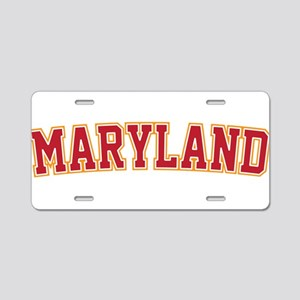 Maryland Jersey Font Aluminum License Plate