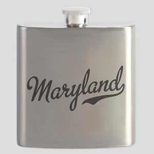Maryland Script Black Flask