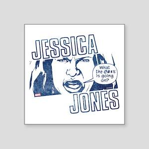 "Jessica Jones WTF is Going Square Sticker 3"" x 3"""
