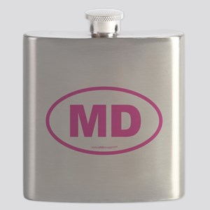 Maryland MD Euro Oval PINK Flask