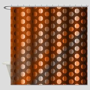 Copper Dots Shower Curtain