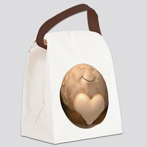 3D Pluto Heart Canvas Lunch Bag