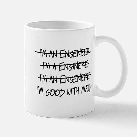 I'm An Engineer Spelling Errors Good At Math Mugs