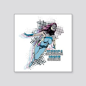 """Jessica Jones Jewel Square Sticker 3"""" x 3"""""""