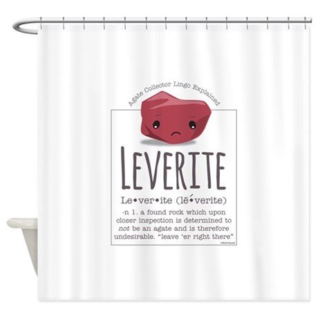 Leverite Agate Shower Curtain By Agateshirts