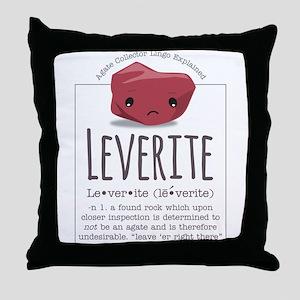 Leverite Agate Throw Pillow