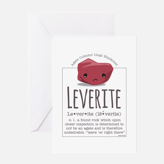 Leverite Agate Greeting Card