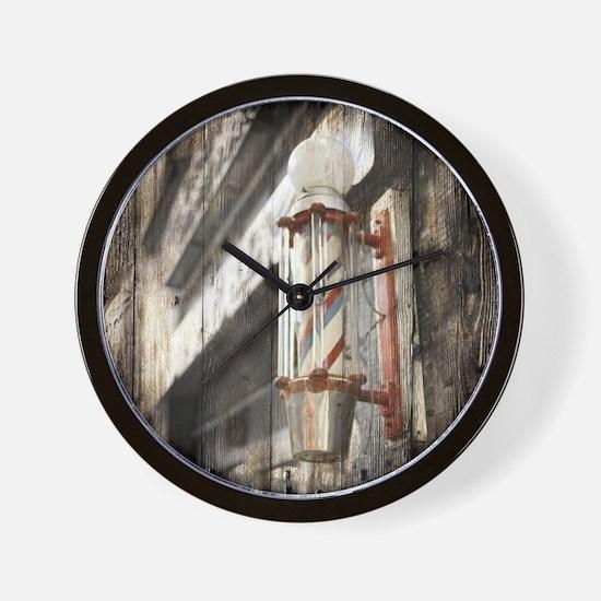 vintage barber shop pole Wall Clock
