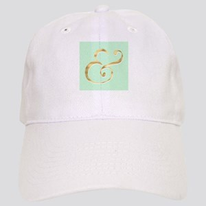 Mint and Gold Ampersand Baseball Cap