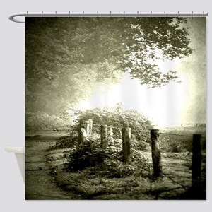 farm western country road Shower Curtain