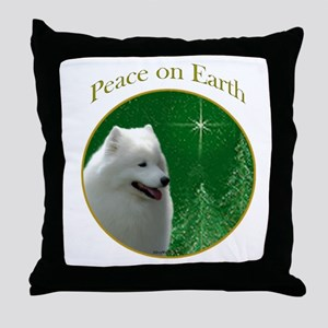 Samoyed Peace Throw Pillow