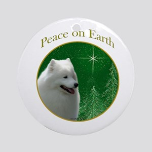 Samoyed Peace Ornament (Round)