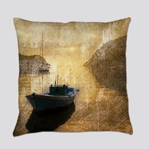 vintage country canoe lake  Everyday Pillow