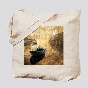 vintage country canoe lake  Tote Bag