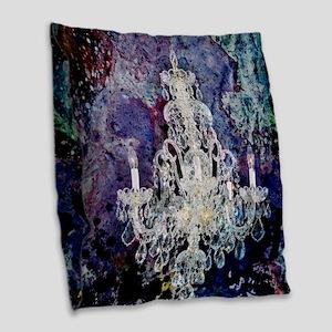 rustic vintage chandelier wate Burlap Throw Pillow