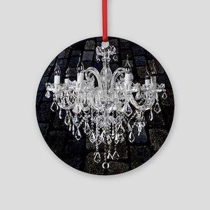 rustic grunge vintage chandelier Round Ornament
