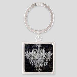 rustic grunge vintage chandelier Square Keychain