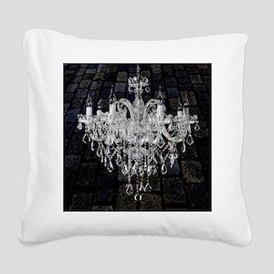 rustic grunge vintage chandel Square Canvas Pillow
