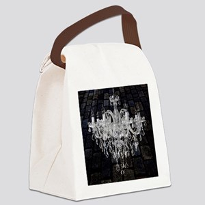 rustic grunge vintage chandelier Canvas Lunch Bag
